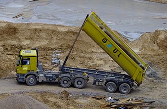 Dump truck - 6x4 semi-tractor with 2-axle trailer