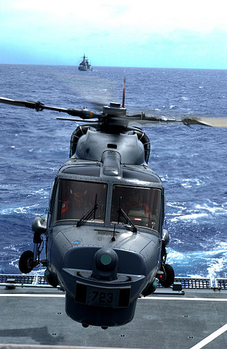 Operation Dawn of Gulf of Aden - A South Korean Navy Westland Lynx in mid-2006.