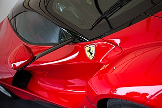 LaFerrari - Wing mirror of LaFerrari mounted on carbon fiber stalk