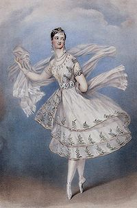 Marie Taglioni, the first ballerina to perform La Sylphide, a ballet danced en pointe for the full length of the work.