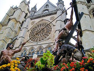 Holy Week in Spain - Paso de La Exaltación de la Cruz. León (Spain).