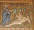 La création dÈve (mosaïques de la Chapelle palatine, Palerme) (7026707189).jpg