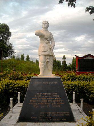 Lachit Borphukan - Lachit Barphukan's Statue at Jorhat, Assam, India