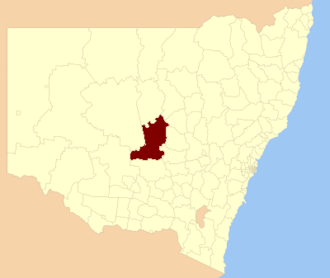 Lachlan Shire - Location in New South Wales