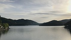 The Lago Ampollino in the national park