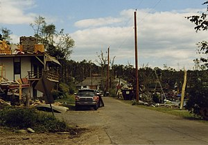 1998 Eastern tornado outbreak - Damages to structures at Lake Carey, Pennsylvania, on June 2, 1998