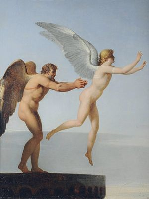 Landon's Daedalus and Icarus, (1799) oil on ca...
