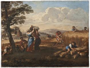 Landscape with Harvesting