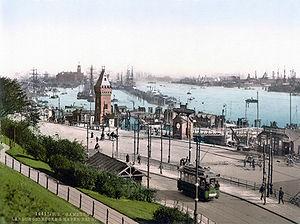St. Pauli - Landungsbrücken in 1900