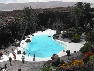 Haría (municipality) - Image: Lanzarote Jameos del Agua Pool