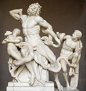 Laocoön (El Greco) - Attributed to: Agesander, Athenodoros and Polydorus, Laocoön and His Sons. The Classical Laocoon Group. Late Hellenistic), c. 160 BC and 20 BC, White marble, Vatican Museum