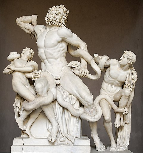 Laocoon and his Sons, a sculpture admired by Pliny Laocoon Pio-Clementino Inv1059-1064-1067.jpg