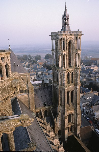 South tower from southwest tower, Laon Cathedral