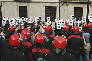 Killing of Lasa and Zabala - Demonstration in remembrance of Jose Antonio Lasa and Jose Ignacio Zabala in 2008
