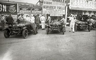 Circuito Lasarte - Alfa Romeo team before the start, Lasarte GP Guipúzcoa / GP Spain 1929-07-28