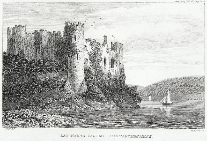 File:Laugharne Castle, Carmarthenshire.jpeg