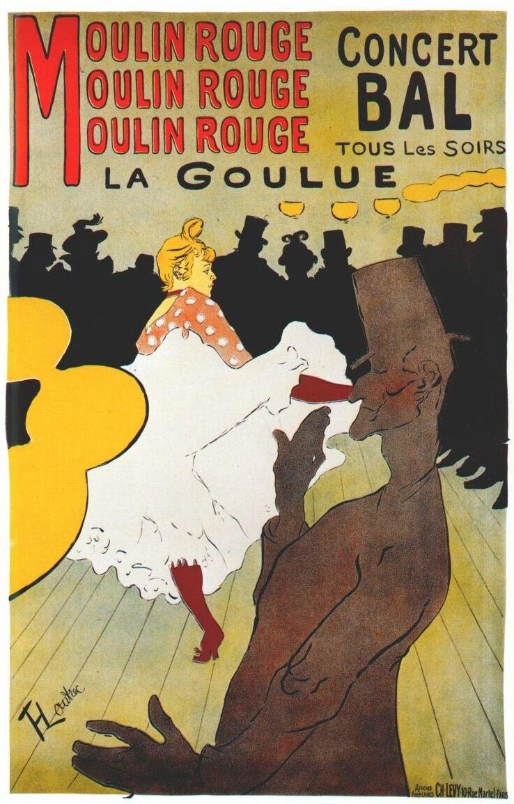 Lautrec moulin rouge, la goulue (poster) 1891