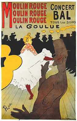 Ανρί ντε Τουλούζ-Λωτρέκ, αφίσα για το καμπαρέ Moulin Rouge (π. 1891).
