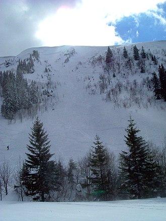 Zastler Loch - Mountainside in the Zastler Loch following an avalanche