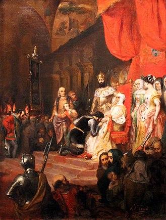 Inês de Castro - The Coronation of Inês de Castro in 1361, by Pierre-Charles Comte.