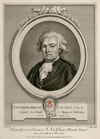 1755 in France -  Jean Anthelme Brillat-Savarin