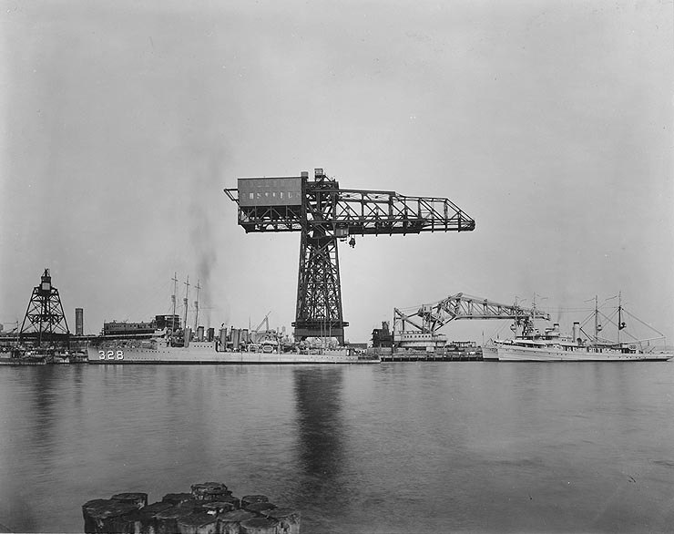 League Island Crane Philadelphia Naval Shipyard 1923