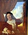 Leipzig, Museum der bildenden Künste, Bartholomeus van der Helst, alte Frau im Fenster.JPG