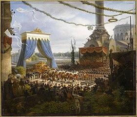 Entrée du roi Charles X à Paris, à son retour de Reims où il fut sacré