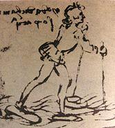 Leonardo walking on water
