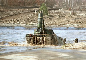 Deep wading - German Leopard 2A4 with turret snorkel, 2010