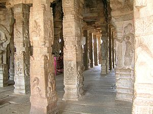 Virabhadra - Carved pillars of the Lepakshi temple
