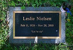 Leslie Nielsen Gravestone