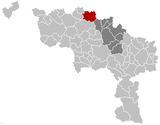 Location of Lessines in Hainaut