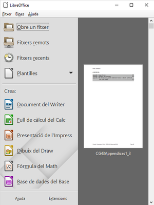 LibreOffice 5.1 Start Center Windows CAT.png