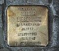 Liebermann, Martha Stolperstein.JPG