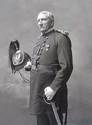 Richard Henry Pratt - Lieutenant Richard Henry Pratt, Founder and Superintendent of Carlisle Indian School, in Military Uniform and With Sword 1879.