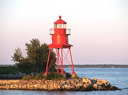 The Alpena Light at the Alpena Municipal Marina