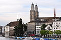 Limmatquai - Haue-Wasserkirche-Grossmünster - Quaibrücke 2010-09-02 19-01-20.JPG