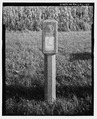 Lincoln Highway Marker, looking S. - Lincoln Highway, Running from Philadelphia to Pittsburgh, Fallsington, Bucks County, PA HAER PA-592-43.tif