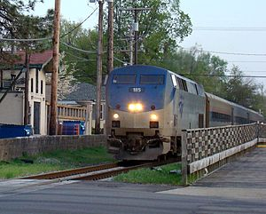 Train #306 heading into Springfield from St. L...