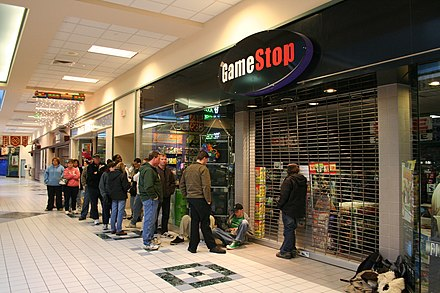 Customers lined up outside of a GameStop store in 2006 to purchase the Wii