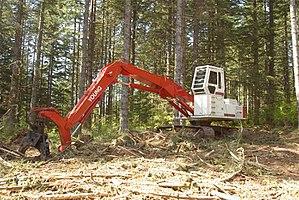 Shovel logging - Log Loader