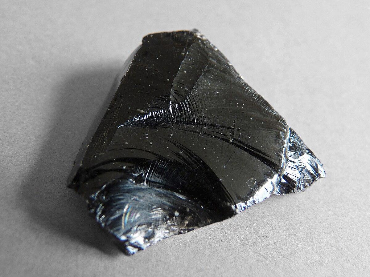 Obsidian wikipedia for Shiny black granite rocks