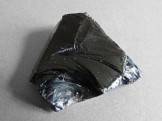 Conchoidal fracture - Obsidian gives conchoidal fractures