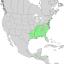 Liquidambar styraciflua range map 1.png