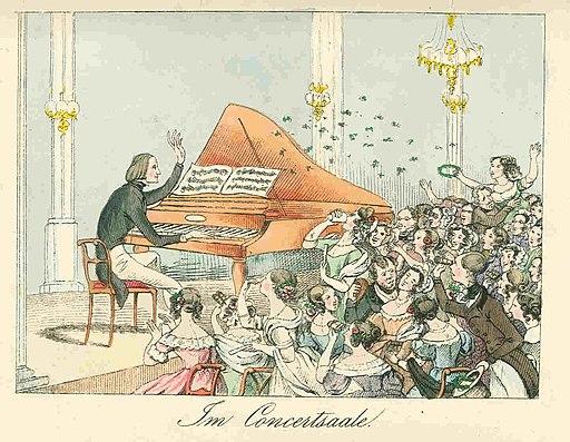 Liszt koncertteremben Theodor Hosemann 1842