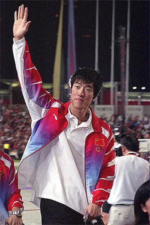 110 metre hurdles record holder Liu Xiang is a...