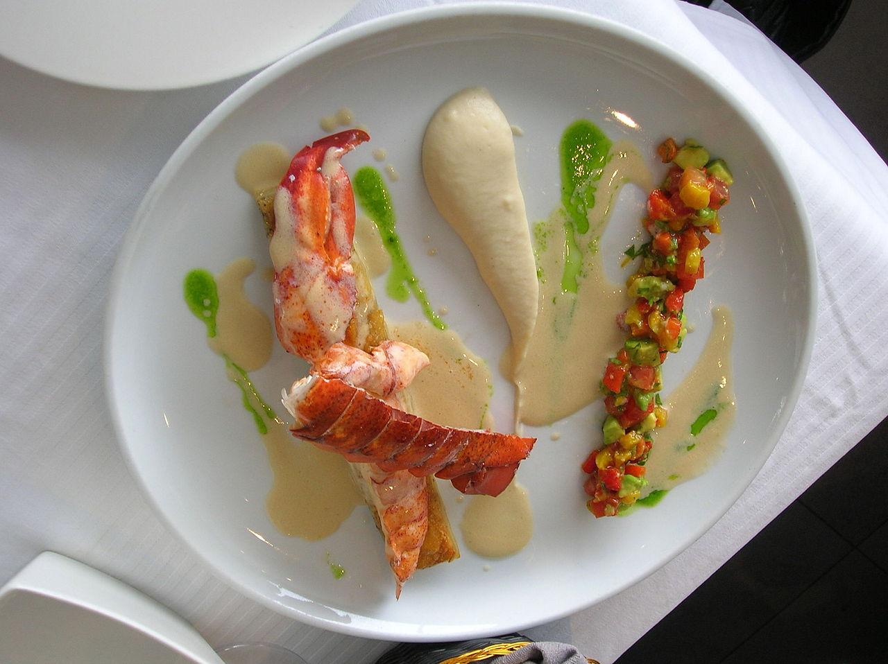 File:Lobster Sous - Vide in Mul Yam restaurant, Tel Aviv.JPG - Wikimedia Commons