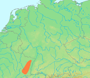 Location of the Vosges