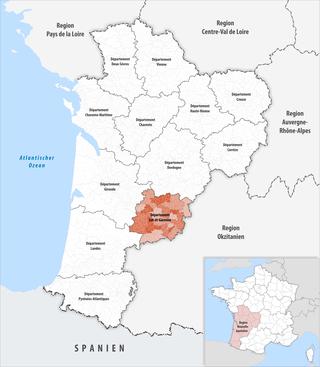 Lage des Lot-et-Garonne
